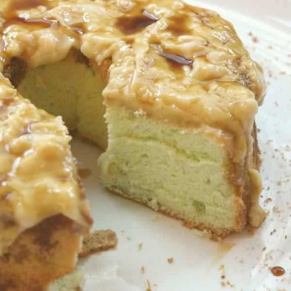 Whole pandan Gula Melaka Birthday Cake With durian
